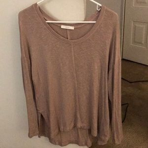 Nude colored light weight knit long sleeve!